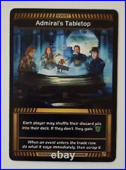 Star Realms Admiral's Tabletop Day Promo Card Board Game White Wizard Sci-Fi