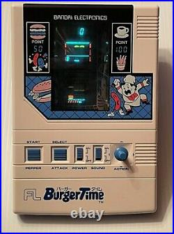 Super Rare Vintage BANDAI FL BURGERTIME Tabletop Game Boxed with Instructions