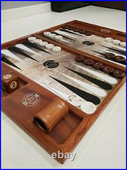 Table Top Backgammon Set-Mahogany Tournament Size FMGammon Board