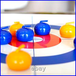 Table Top Curling Game Indoor Outdoor Family Games for Home Fun Adults or Kids