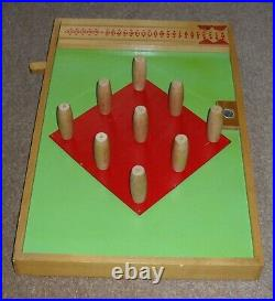 Table Top Skittles Family Pub Bar Board Game Taylor Leicester COMPLETE EXC RARE