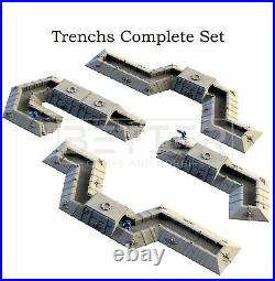 Trench Trenchs Tabletop 3d printed Terrain Scenery for Warhammer 40k