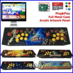 Two Player TableTop Arcade Retro Game Console Raspberry Pi 3B+ Metal Case 64G US