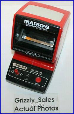 USED Mario's Cement Factory Nintendo Game and Watch Table Top (CM-72)