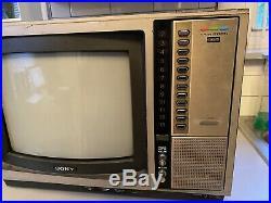 VTG Sony KV-1205 Trinitron 12 Tabletop CRT TV, Working, Great For Retro Gaming