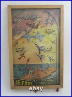 Vintage 1950s Rare JET-AGE Pinball Game Northwestern Prod 443 Tabletop Bagatelle