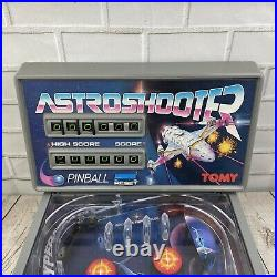 Vintage 1980s Tomy Astro Shooter Pinball Game Table Top Arcade UK Tested Working