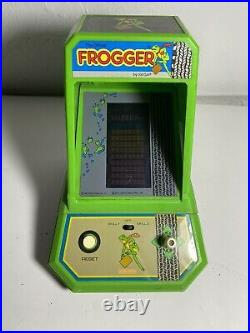 Vintage 1981 Frogger Tabletop Electronic Mini Arcade Game Coleco By Sega Works