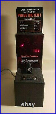 Vintage 1982 Pulse Meter 1 Coin Operated Heart Rate Monitor Tabletop Arcade Game