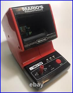 Vintage 1983 Nintendo Tabletop MARIO'S CEMENT FACTORY Video Game & Watch WORKS