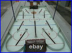 Vintage Antique NHL ALL STAR Table Top Rod Hockey Game Tin Battery Operated