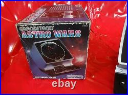 Vintage Boxed astro wars set c Tabletop LCD game tested working