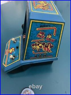 Vintage COLECO Ms. Pac-Man Electronic Tabletop Mini Arcade Game Original 1981
