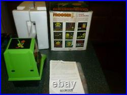 Vintage Coleco Frogger Table-Top Mini Arcade with Original Box (1981) Works