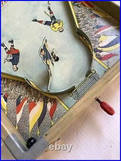 Vintage Gothams G-210 Metal Tin Toy Table Top Ice Hockey Game with Original Box