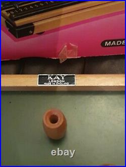 Vintage Kay London Table Top Bar Skittles Game Great Condition PINK BOXED