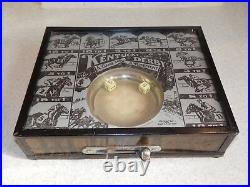 Vintage Kentucky Derby Amusement Dice Table Top Game Device Glass Top Works Well