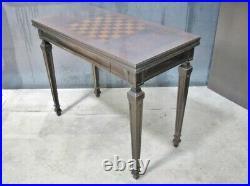 Vintage Mahogany John Widdicomb Flip Top, Extendable Game Table + Single Drawer