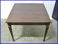 Vintage Mohogany John Widdicomb Flip Top, Extendable Game Table + Single Drawer