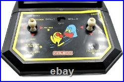Vintage Pac-Man Coleco Tabletop Mini Arcade Video Game Super Puck Monster 1981