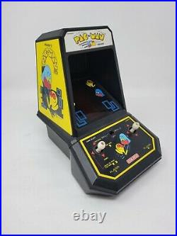 Vintage Pac-Man Tabletop Electronic Game, Coleco Mini Arcade with NEW Stickers