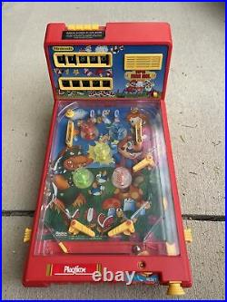 Vintage Super Mario Bros Nintendo Pinball Tabletop Game Playtime WORKS