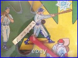 Vtg Slugger Poosh M Up Baseball Pinball Game Table Top Northwestern Parts Repair