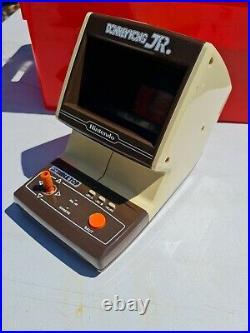 Vtg donkey kong Jr Tabletop game & watch handheld LCD game working