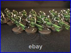 Warhammer 40k Indomitus Necron Half Painted Tabletop Ready