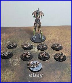 Warhammer 40k, Necrons Army. Battalion & Vanguard, Painted Tabletop not Based