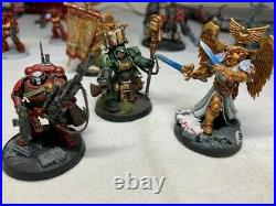 Warhammer 40k Tabletop ready Blood Angles army painted and kitbash Huge lot