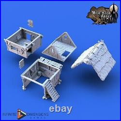 Wightwood Abbey Medevial Village Thatched Storehouse Tabletop Terrain War Games