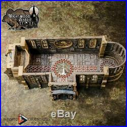 Wightwood Abbey Medieval Abbey Church Tabletop Terrain Miniature RPG War Games