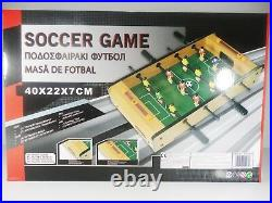 Wooden Classic Mini Table Top Foosball Soccer Football Game Set Kids Toy 16'