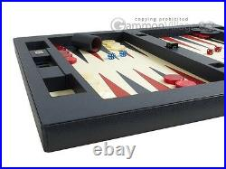 Zaza & Sacci Leather Table Top Backgammon Set Large 26 Blue Backgammon Board
